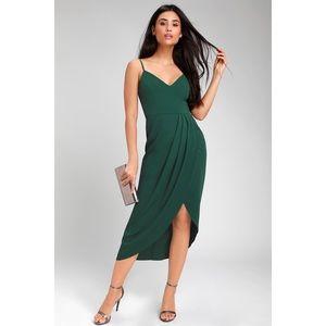 Lulus Reinette Green Midi Dress